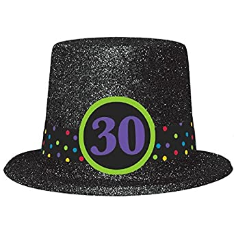 Amazon Amscan Party Supplies The Continues 30th Birthday Glitter Top Hat One Size Multicolor 1ct Industrial Scientific