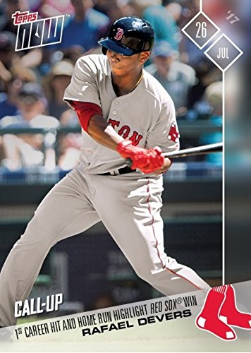 2017 Topps Now #397 Rafael Devers Baseball Card - First Career Hit is a Home Run - Only 1,585 made!