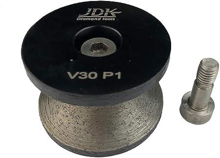"1-1//4/"" Full Bullnose Diamond 30mm V30 Router Bit Granite Cup Pad Concrete Marble"