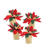 Department 56 Potted Poinsettias, Set of 4