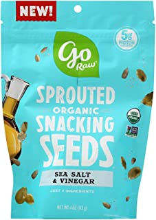 product image for Go Raw, Seasalt Vinegar Sprouted Snacking Seeds, Organic, 4 Oz