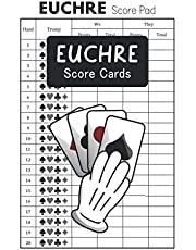 Euchre Score Cards: Euchre Personal Tally Game Night Score Sheets Record Scorekeeping Book - Euchre Card Games Score Pads- Small Size 6 x 9 inches