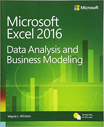 microsoft excel data analysis and business modeling 5th edition