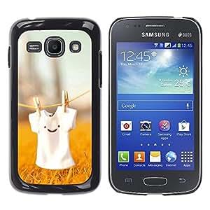 For Samsung Galaxy Ace 3 - Cute T Shirt Smiley /Caja protectora de pl???¡¯????stico duro de la cubierta Dise???¡¯???¡Ào Slim Fit/ - Super Marley Shop -