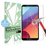 LG G6 Screen Protector, Rockxdays [2-Pack] Tempered Glass Screen Protector [9H Hardness][Easy Installation] [Bubble Free] for LG G6