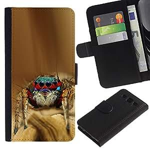 Billetera de Cuero Caso del tirón Titular de la tarjeta Carcasa Funda del zurriago para Samsung Galaxy S3 III I9300 / Business Style Cool Spyder Bro