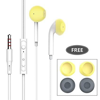 Earphones/Headphones/Earbuds with Noise Filter Film, CLCROBD 3 5mm Wired  Heavy Bass in-Ear Headphones Built-in Mic & Volume Control Compatible with