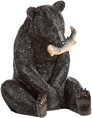 Fisherman Statue (Design Toscano The Expert Fisherman Black Bear Statue)