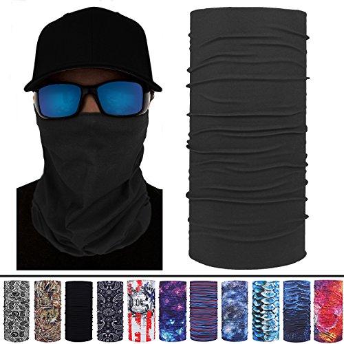 (Headband, Multifunctional Headwear Outdoors & Daily Headbands for Women Men UPF 30, 95% UV Protection Gray)