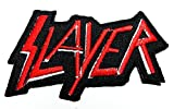 Slayer Rock Music Band Patch Embroidered Iron on Hat Jacket Hoodie Backpack Ideal for Gift/ 8.8cm(w) X 4.5cm(h)