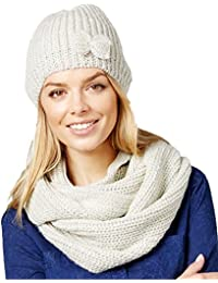 Women's Lurex Hat & Infinity Loop Gift Set