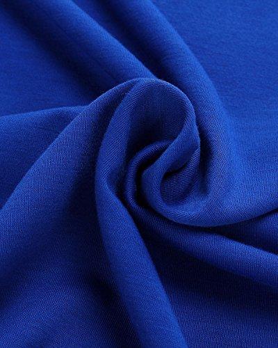 Casual Manica Fuori Shirt Bello Blue ZANZEA Corta Sexy Top Camicetta Donne Halter Magliette Shouder T Rw0PEqO