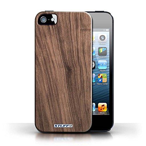 Hülle Case für Apple iPhone 5/5S / Nussbaum Entwurf / Holz/Holzmaserung Muster Collection
