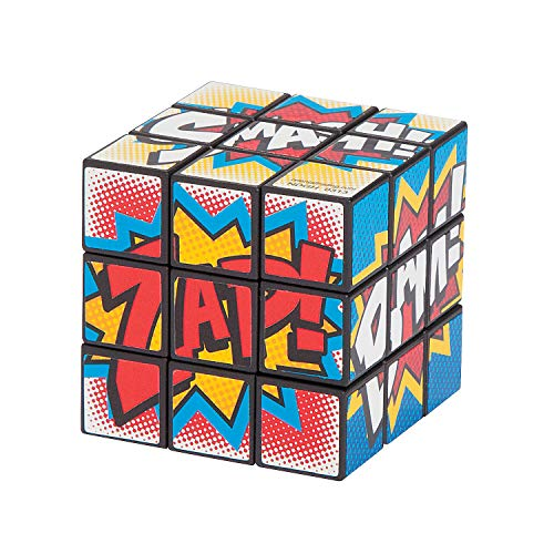 Fun Express Plastic Superhero Mini Magic Puzzle Cubes (1 Dz) -