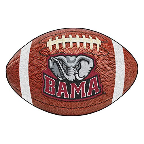 Rug Football Tide Alabama Crimson - FANMATS NCAA University of Alabama Crimson Tide Nylon Face Football Rug