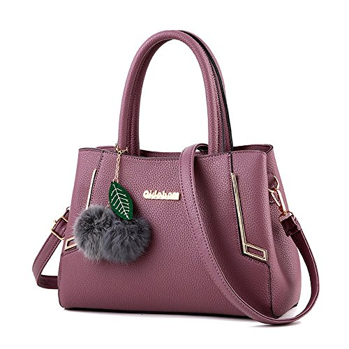 Commuter Pejgd Shoulder Moda Lady colore Viola Bag Tote Borsa Messenger Nero Leisure Grigio Donna Tracolla WwgnASrxUg