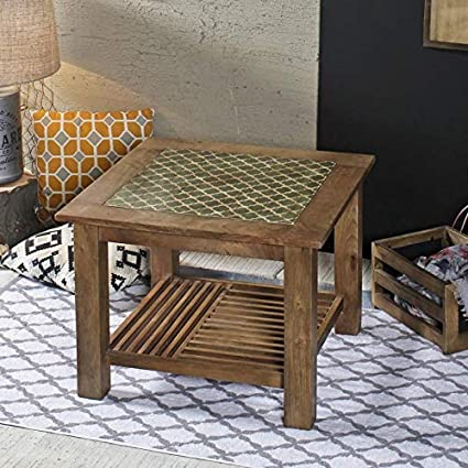Sameul Vintage Square Coffee Table Large Amazon In Home Kitchen