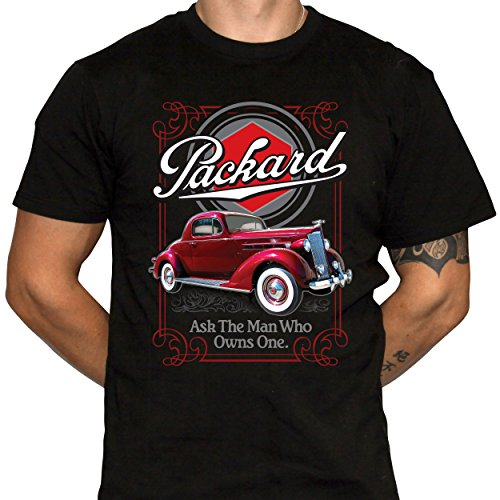 Packard Motor Car Company Shirt Mens Black Cotton Crew for sale  Delivered anywhere in USA