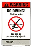 Poolmaster 40352 NSPF No Diving Sign for Residential or Commercial Pools