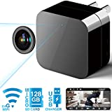 Phreilend Hidden Camera - Spy Camera - WiFi Camera HD 1080P Remote View with APP - Can Charge Phones - Home Security Camera Motion Detection Indoor Camera with Micro SD Card Slot(Up to 128GB)