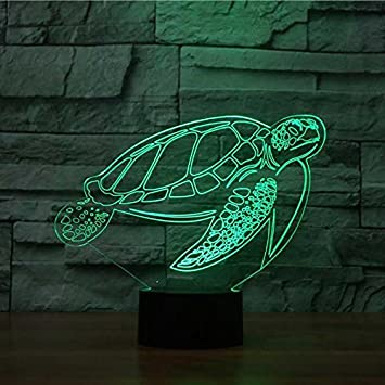 Amazon Com 3d Sea Turtle Night Light Animal Table Desk Optical