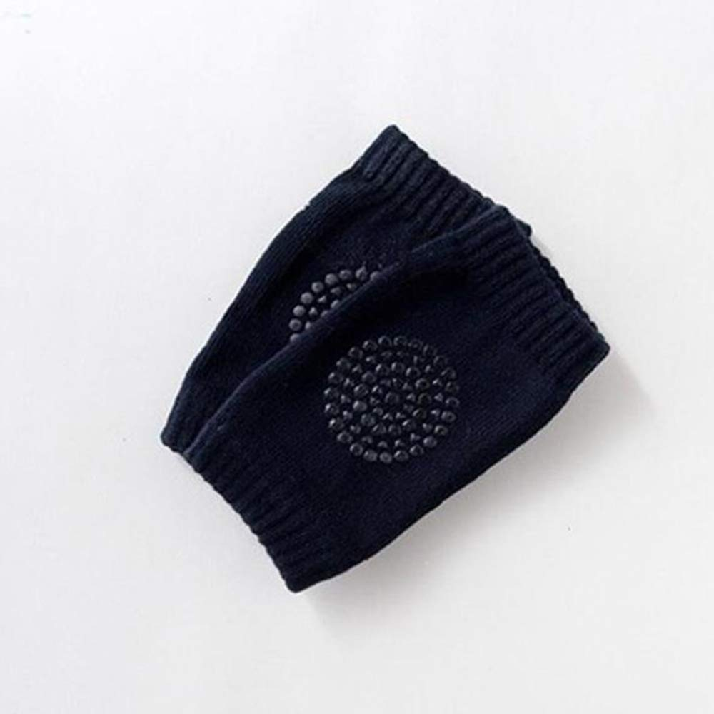 Ogquaton Almohadillas para la rodilla del beb/é Suave y transpirable de algod/ón para ni/ños peque/ños Rodillera adecuada para el beb/é que se arrastra a la rodilla protectora azul marino