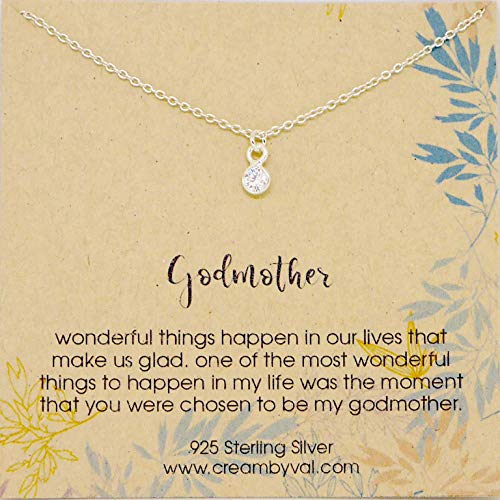 (Godmother Clear Quartz Sterling Silver Necklace - 17'' Length)