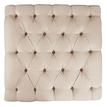 Pleasing Skyline Furniture Tufted Cocktail Ottoman In Linen Talc Squirreltailoven Fun Painted Chair Ideas Images Squirreltailovenorg