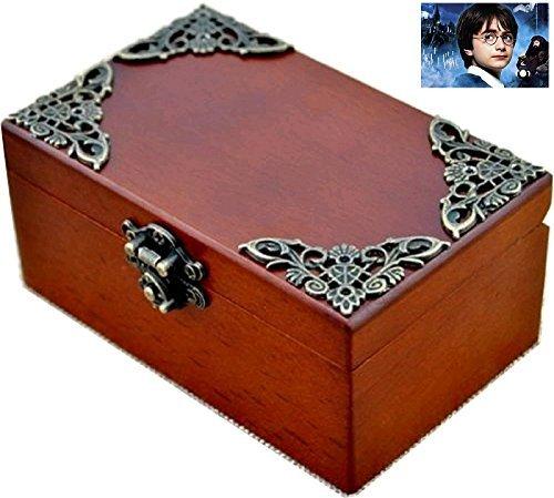 clásico madera Rectángulo joyería Wind Up Caja de música: Hedwig 's Tema (Banda Sonora)