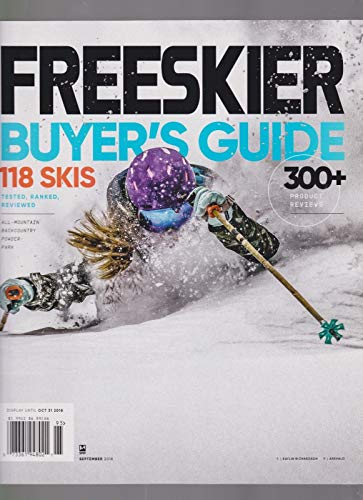 (FREESKIER MAGAZINE Vol.20#1, 2018 BUYER'S GUIDE,118 SKIS, 300 PRODUCTS REVIEWS.)