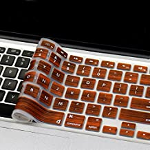 "Masino® Silicone Keyboard Cover Ultra Thin Keyboard Skin for MacBook Air 13"" MacBook Pro with Retina Display 13""15"" 17"" (US Version MacBook) (Wood Brown)"