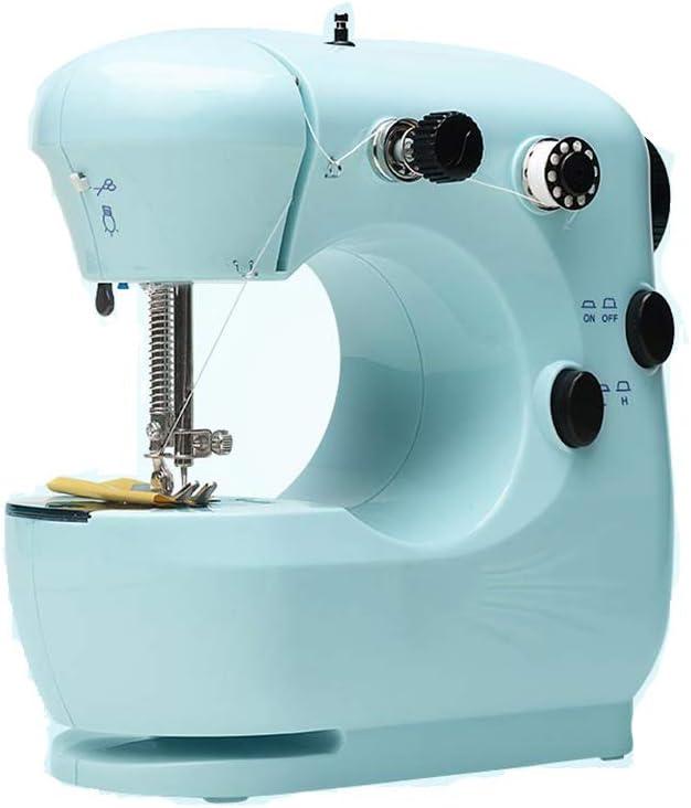 Máquina De Coser Doméstica, Eléctrica, Mini, Multifuncional, Pequeña, Manual, Gruesa, Máquina De Coser, Mini Ropa, Cian