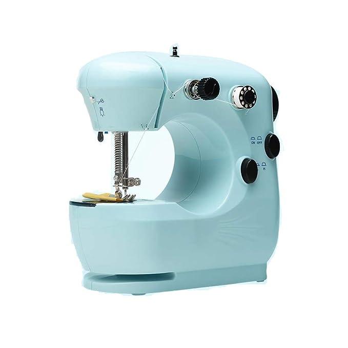 Máquina De Coser Doméstica, Eléctrica, Mini, Multifuncional, Pequeña, Manual, Gruesa, Máquina De Coser, Mini Ropa, Cian: Amazon.es: Hogar
