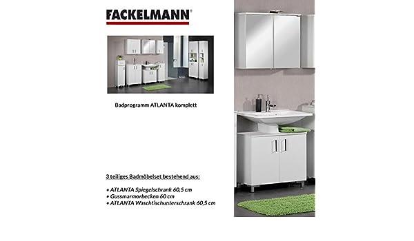 Fackelmann de Muebles de baño Set Atlanta de 3 Piezas 60 cm Color ...