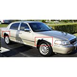 is compatible with 2005 2006 2007 2008 2009 2010 2011 Dodge Dakota WITH Factory Front Mudflaps DeluxeAuto CHROME STAINLESS STEEL FENDER TRIMS 4 PCS