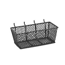 Bulldog 131592 Wire Mesh Basket with Peg Hooks Black Medium