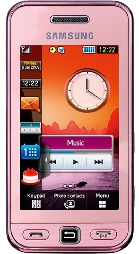 Samsung S5233 Unlocked Phone with 3 MP Camera, MP3 player, Touch Screen MicroSD Slot (Pink)