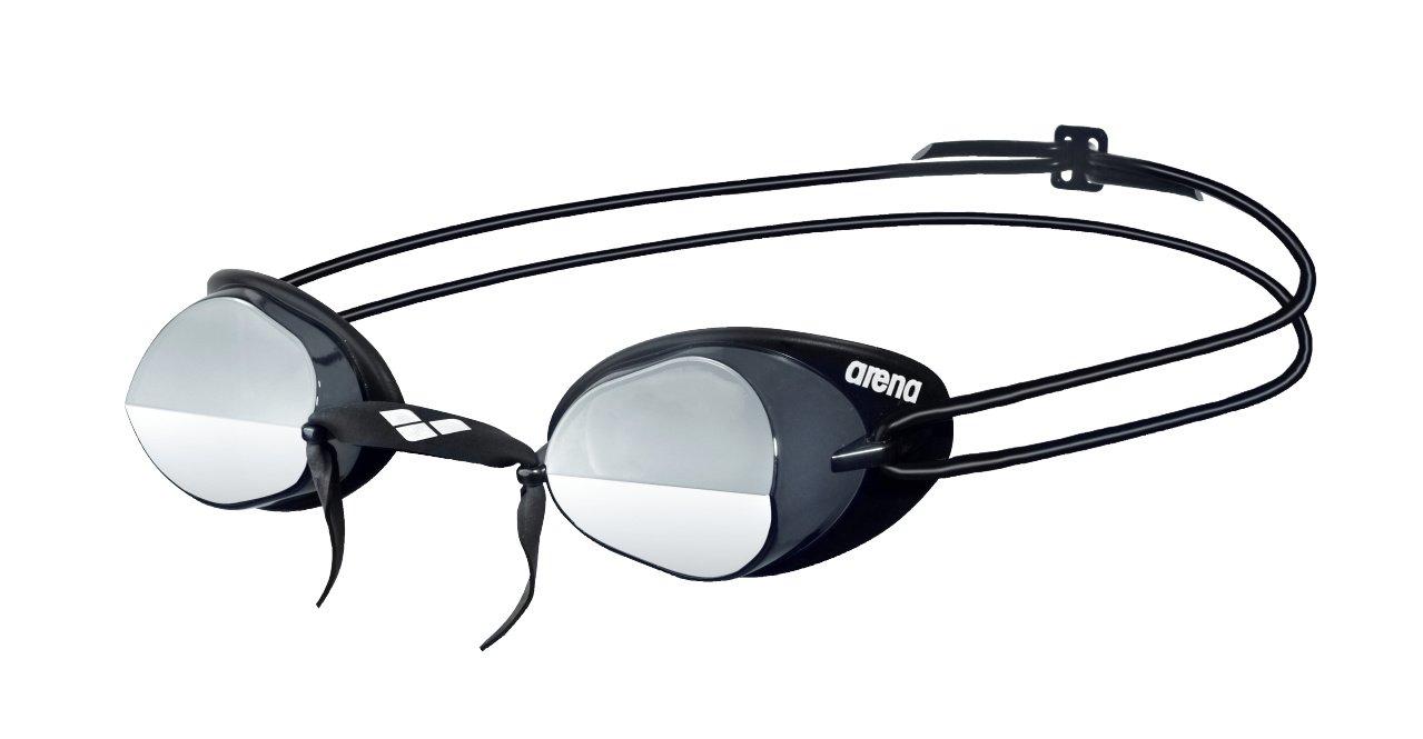 arena Unisex Wettkampf Schweden Schwimmbrille Swedix Mirror (Verspiegelt, UV-Schutz, Anti-Fog Beschichtung) grau (Smoke-Silver-Black) One Size 92399