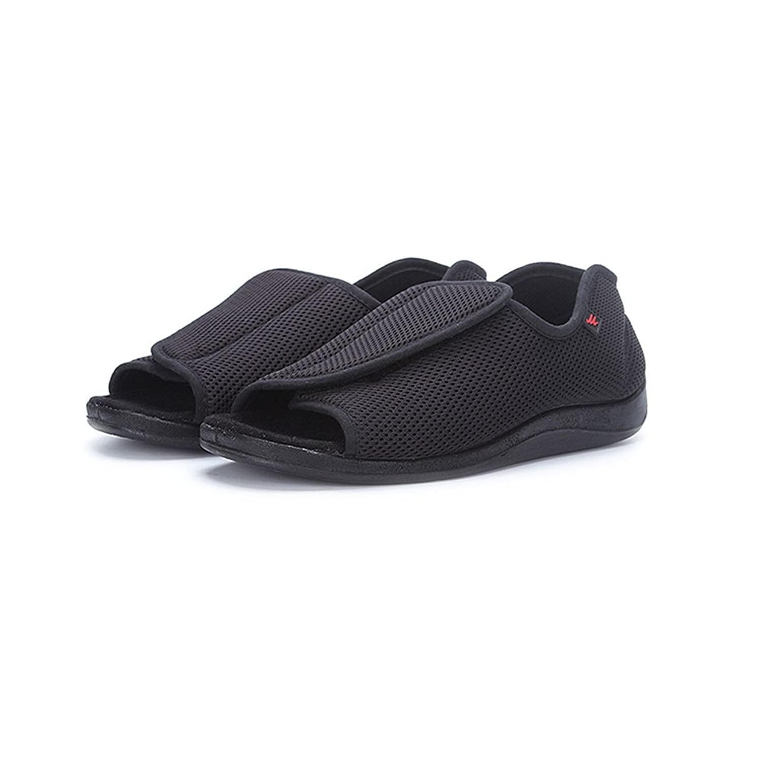 c69af43b7fd NEPPT Diabetic Slippers Plantar Fasciitis Orthopedic Arthritis Feet Velcro  Diabetic Shoes for Men - Safety Extra Wide Tennis Open Toe Sandals Sneakers