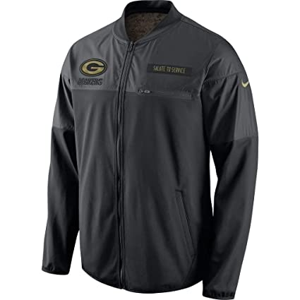 d6407fd75 Green Bay Packers NFL Salute to Service Men s Full-Zip Black Hybrid Jacket  (3XL