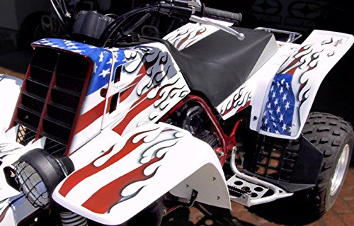 Yamaha Banshee Graphics - Blaze of Glory Design w/White Background (Best Graphic Design Backgrounds)