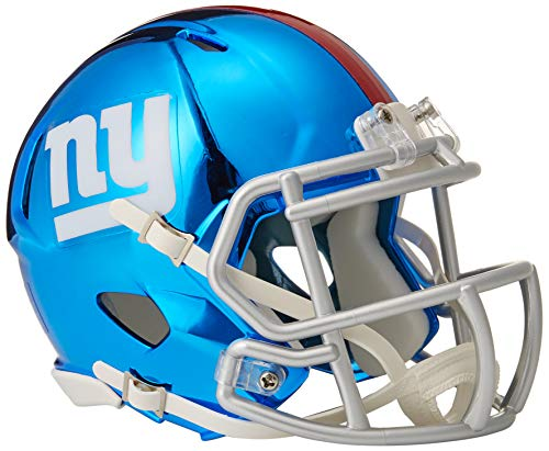 Riddell Chrome Alternate NFL Speed Authentic Mini Helmet New York Giants (New York Giants Mini Speed Helmet)