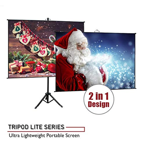 Elite Screens Tripod Lite Wall Series | 2 in 1 Portable Projector Screen Dual Tripod Stand/Wall Mount Indoor/Outdoor 65-INCH, 1:1 w/Carrying Bag | T65SW