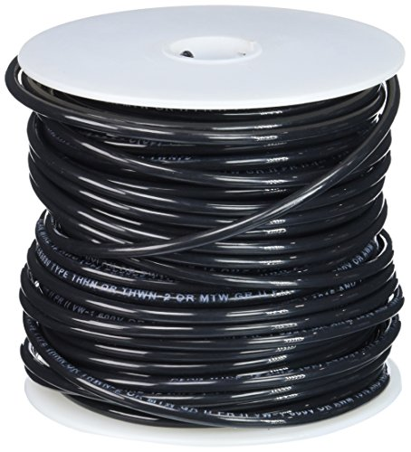 Remington Industries 12STRBLATHHN100 12 AWG Gauge Stranded THHN Building Wire, 600V, 100' Length, Black