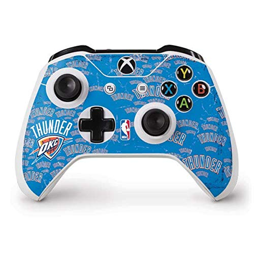 Skinit Oklahoma City Thunder Blast Xbox One S Controller Skin - Officially Licensed NBA Gaming Decal - Ultra Thin, Lightweight Vinyl Decal Protection ()