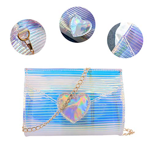 Prom Shoulder Beach Elegant Crossbody Liliam Holographic Bag Women Heart1 Party YxZq1n7w