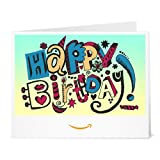 Happy Birthday (Doodle) - Printable Amazon.co.uk Gift Vouch