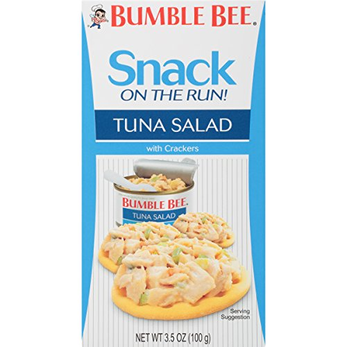 (BUMBLE BEE Snack on the Run! Tuna Salad with Crackers, Canned Tuna Salad, Good Source of Protein, 3.5oz (Pack of 12))