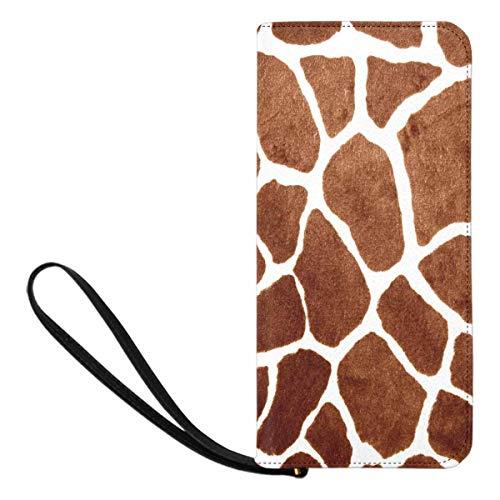 Womens Giraffe Print Wallet - InterestPrint Women's Giraffe Print Clutch Wallet Handbag for Party Wedding Outdoor Sport