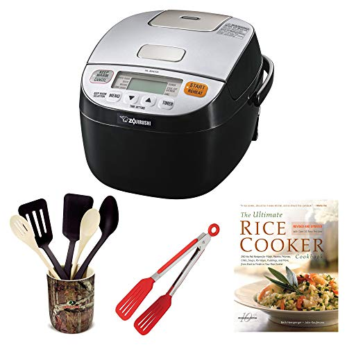 Zojirushi NL-BAC05 Micom Rice Cooker & Warmer, Silver Black Includes 8-inch Nylon Flipper Tongs, Bamboo Stir Fry Spatula and Cookbook Review